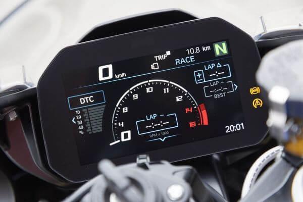 BMW S 1000 Anzeige